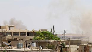 İdlib'de sivillere saldırı anı