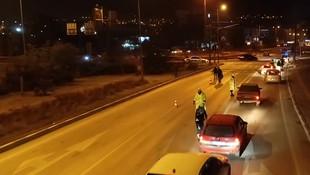 Polis dün gece aynı trafik canavarını 2 kez yakaladı
