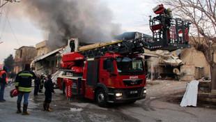 Gaziantep'te boya fabrikasında korkutan yangın