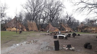 Recep İvedik setinin evleri yıkıldı