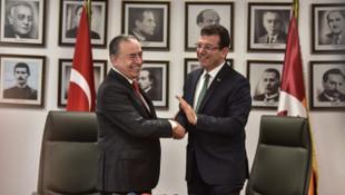 Ekrem İmamoğlu'ndan Galatasaray'a ziyaret