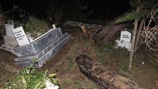 Mezarlıkta şoke eden görüntü ! Mahalleli sokağa döküldü
