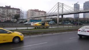 İstanbul trafiğinin göbeğinde skandal görüntüler