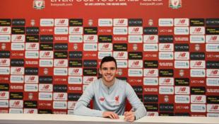 Liverpool Andy Robertson ile yeni sözleşme imzaladı