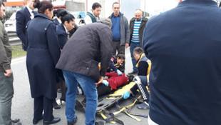 İstanbul'da dehşet anları ! Seyir halindeki araçtan aşağıya atıladı