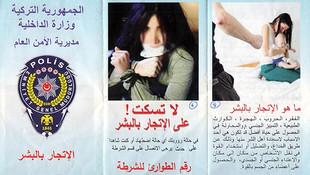 Emniyet Suriyeliler için Arapça broşür bastı