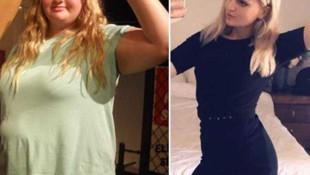 Diyet ve egzersiz yaparak 78 kilo verdi
