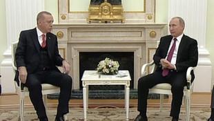 Erdoğan ve Putin'in görüşmesi başladı