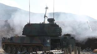 TSK Suriye'deki YPG/PKK'lı teröristlerini obüslerle vurdu