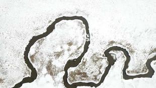 Doğu Anadolu'nun kuşbakışı kar manzarası hayran bıraktı