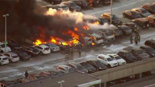 ABD havaalanı otoparkında yangın