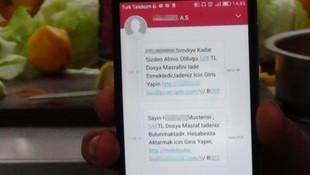 Bu SMS size de gelebilir ! Tek SMS ile 30 bin TL'sini kaptırdı