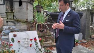 İmamoğlu'ndan Yılmaz Güney ve Ahmet Kaya'nın mezarlarına ziyaret