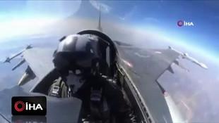 Türk F-16 pilotları terör hedeflerini böyle bombaladı