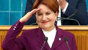 Meral Akşener asker selamı verdi