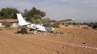Antalya'da eğitim uçağı kaza yaptı
