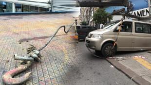 Şişli'de akılalmaz kaza !