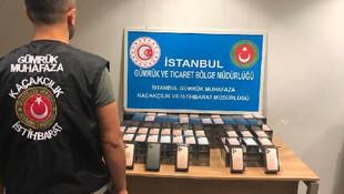 Sabiha Gökçen'de 3 milyon liralık kaçak telefon operasyonu
