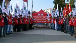 Yüzlerce işçi açlık grevine başladı