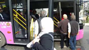Özel Halk Otobüsü'nde küfürler havada uçuştu