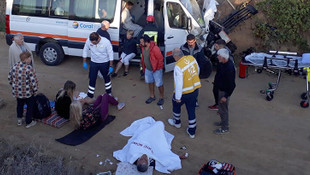 Turistler antalua yolunda hayatlarının şokunu yaşadı: 13 yaralı!