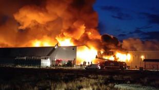 Konya'da büyük fabrika yangını