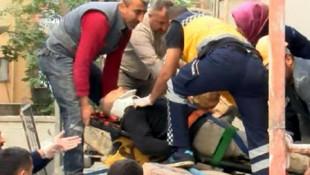 Ankara'da yük asansörü düştü: 3 yaralı