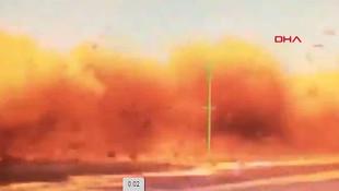 Bakanlık paylaştı! Bomba yüklü araç böyle imha edildi!