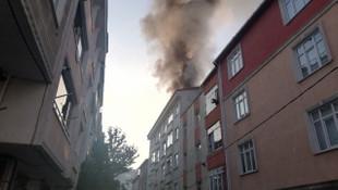 Esenyurt'ta 5 katlı binada yangın