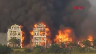 Alevler binaları sardı! 7 ev alevler içinde kaldı