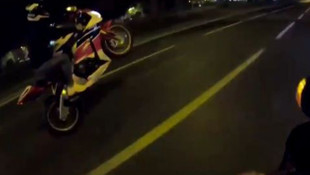 İstanbul'da motosikletli maganda kamerada