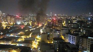 Ataşehir'de dükkanda çıkan yangın binalara sıçradı