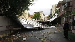 İstanbul'da yağmur sonrası bir felaketten dönüldü