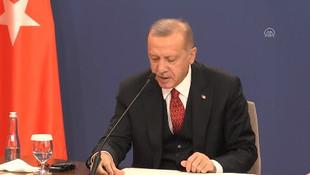 Sırp Cumhurbaşkanı Erdoğan'ı korudu