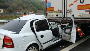 TEM'de feci kaza ! 12 araç birbirine girdi