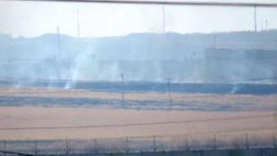 YPG'li teröristlerin duman oyunu