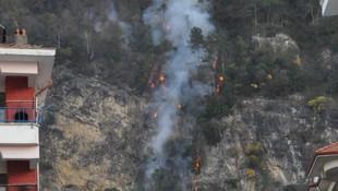 Bartın'da orman yangını: Evler boşaltıldı