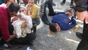 Beyoğlu'nda korkunç olay ! Para vermeyen kadına inşaat demiri sapladı