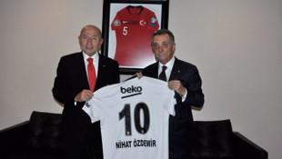Ahmet Nur Çebi'den TFF'ye ziyaret