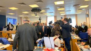 Protesto edilen RTÜK Başkanı Ebubekir Şahin toplantıdan kaçtı