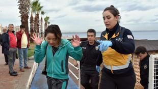 Alkollü kadın turist Antalya'yı birbirine kattı