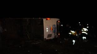 Aksaray'da yolcu otobüsü devrildi! Çok sayıda yaralı var...