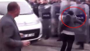 HDP'li vekil Ayşe Sürücü, polis kalkanına kafa attı