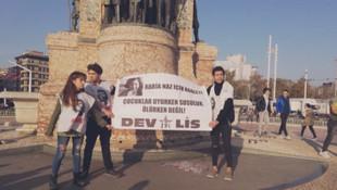 Rabia Naz eylemi yapan liselilere gözaltı