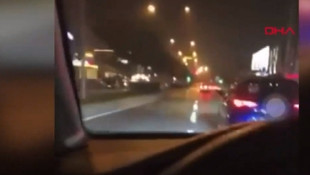 Sosyal medyadan canlı yayın yaparken kaza yaptı