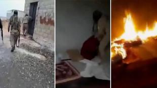 YPG'li teröristin telefonundan çıkan görüntüler kan dondurdu
