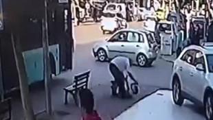 Otobüs şoförünün çocuğa dayağı kamerada