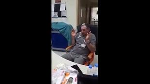 Devlet hastanesinin yoğun bakım servisinde skandal görüntü