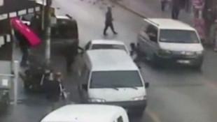 İstanbul'da film sahnelerini aratmayan dolandırıcılık kamerada