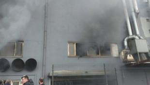 İstanbul'da fabrikada korkutan yangın